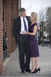 Man and Woman on City Street Stock Photography