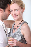 Man and woman in a clinch Royalty Free Stock Image