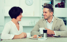 Man and woman with coffee Royalty Free Stock Image