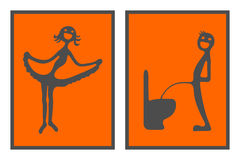 Toilette signs Royalty Free Stock Photography