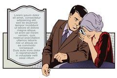 Man and woman conducting a secret conversation. Royalty Free Stock Photos