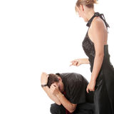 Man and woman conflict. Stock Image