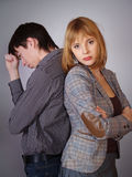 Man and woman conflict Stock Photo