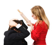 Man and woman conflict Royalty Free Stock Images