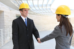 Man and Woman Construction Team Royalty Free Stock Images
