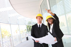 Man and Woman Construction Team Royalty Free Stock Photos