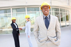 Man and Woman Construction Team Stock Photos