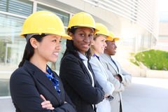 Man and Woman Construction Team Stock Photography