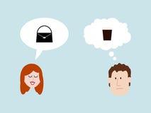 Man And Woman Conversation vector illustration