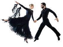 Man woman couple ballroom tango salsa dancer dancing silhouette Royalty Free Stock Photography