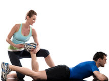 Man woman couple exercising workout Royalty Free Stock Photos