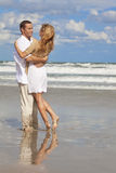 Man and Woman Couple Having Fun On A Beach Royalty Free Stock Photography