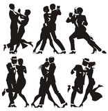 Man and woman dance. At a party Royalty Free Stock Photos