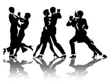 Man and woman dance Royalty Free Stock Photography