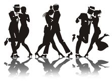 Man and woman dance Stock Image