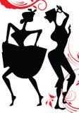 Man and woman dancen Royalty Free Stock Photos