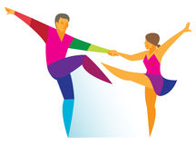 Man and woman is dancers rock_n_roll Royalty Free Stock Images
