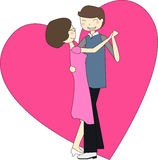 A man and woman dancing. This illustration that a man and woman dancing vector illustration