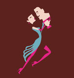 Man and woman dancing Royalty Free Stock Image