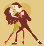 Man and woman dancing. Pair in love vector illustration royalty free illustration