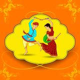 Man and woman dancing on Dandiya night Stock Photo