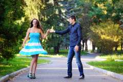 A man and a woman dancing Royalty Free Stock Photo