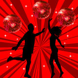 Man and woman dancing Royalty Free Stock Images
