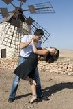 Man and woman dancing a tango stock images