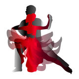 Man and woman dancing tango. Vector illustration Stock Photography