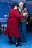 Man and woman dancing Stock Image