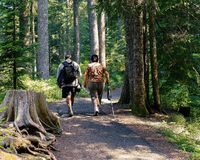 Man And Woman On Day Hike Royalty Free Stock Image