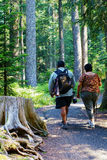 Man And Woman On Day Hike Royalty Free Stock Photos