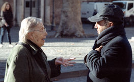 Man and woman dialog Royalty Free Stock Photo