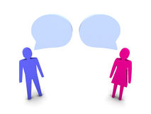 Man and woman dialog. Royalty Free Stock Image
