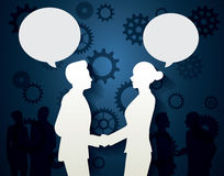 Man and Woman with dialog speech Royalty Free Stock Photos