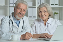 Man and woman doctors Royalty Free Stock Photo