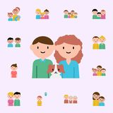 man, woman, dog cartoon icon. family icons universal set for web and mobile stock illustration