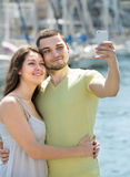 Man and woman doing selfie Royalty Free Stock Images