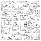 Man and woman doodle shoes Stock Photography