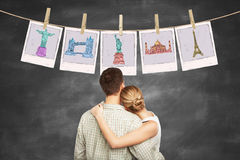 Man and woman dreams a travel Stock Image