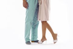 Man and woman dressed in pyjama Stock Photography