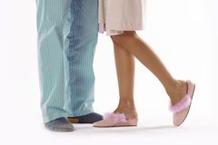 Man and woman dressed in pyjama Stock Photo