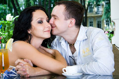 The man and the woman drink Stock Photo