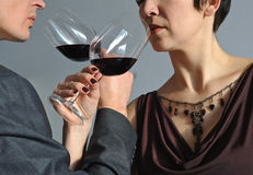 Man and woman drinking wine Royalty Free Stock Photography