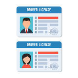 Man and woman driver license Stock Photos