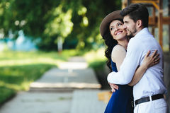 Man and woman embracing each other Stock Photography