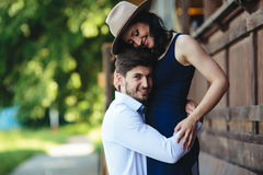Man and woman embracing each other Royalty Free Stock Photography
