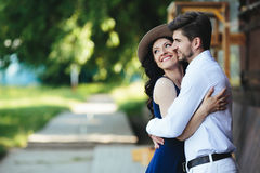 Man and woman embracing each other Royalty Free Stock Images