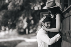 Man and woman embracing each other Stock Photo