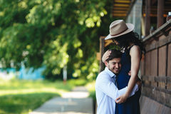 Man and woman embracing each other Stock Image